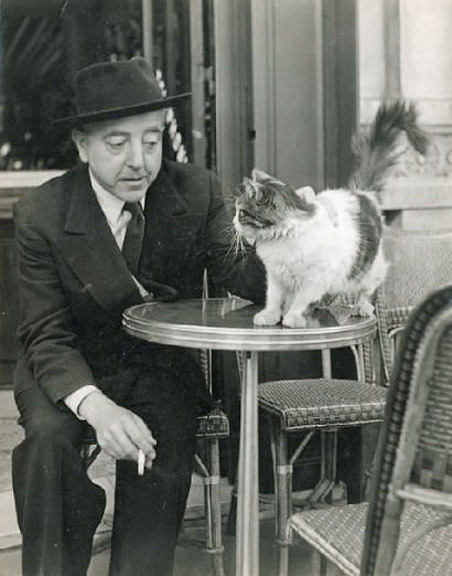 Jacques Prévert and Parisian kitty.