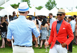 Tommy Ton at the Veuve Clicquot Polo Classic