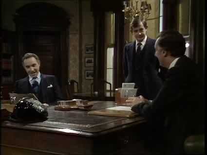 fuckyeaminister:  Sir Humphrey: Well briefly, sir, I am the Permanent Under Secretary of State, known as the Permanent Secretary. Woolley here is your Principal Private Secretary. I too have a Principal Private Secretary and he is the Principal Private Secretary to the Permanent Secretary. Directly responsible to me are ten Deputy Secretaries, 87 Under Secretaries and 219 Assistant Secretaries. Directly responsible to the Principal Private Secretaries are plain Private Secretaries, and the Prime Minister will be appointing two Parliamentary Under Secretaries and you will be appointing your own Parliamentary Private Secretary.Hacker: Can they all type?Sir Humphrey: None of us can type, Minister. Mrs MacKay types: she's the secretary.