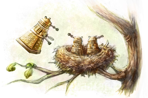 Dr. Who: Nesting Daleks by Risachantag
