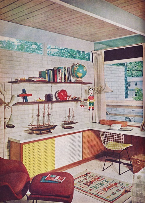 postwarvintage:  1960s home office