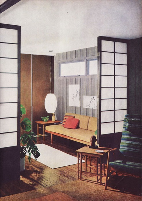 theswingingsixties:  1960s living room design.
