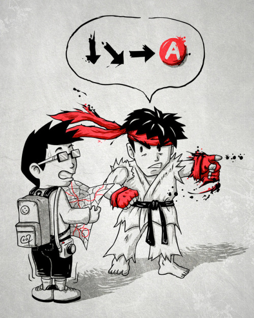 insanelygaming:  Hadoken? - by Patrick Zedouard