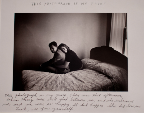 "red-handedjill:   ""This photograph is my proof. There was that afternoon, when things were still good between us, and she embraced me, and we were so happy. It did happen. She did love me. Look for yourself.""  This is my proof, Duane Michals, 1974"