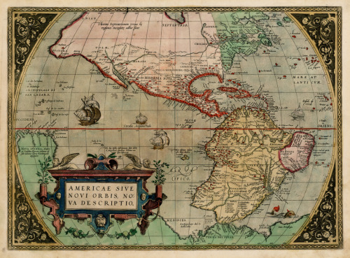 Abraham Ortelius, 1672, North & South America