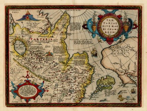 Abraham Ortelius, 1612, Parts of Asia & North America
