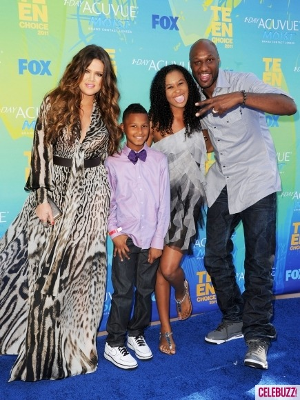 What a cute family! Khloe steps out with her husband, Lamar Odom, and her two step-children: Lamar Jr. & Destiny!
