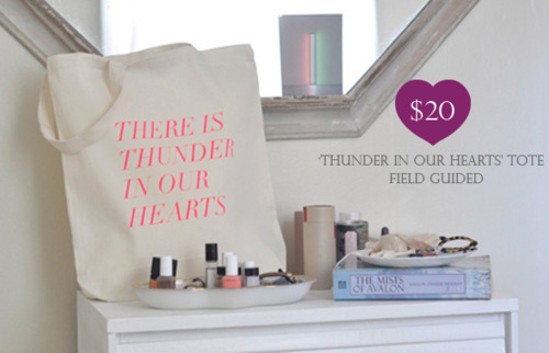 Thunder in our hearts tote field guided