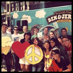 Hey #Boston! Make sure you follow the @benjerrystruck on twitter. They'll be slinging #OMGFreeBenJerrys all over Beantown the whole month of August! (Taken with instagram)