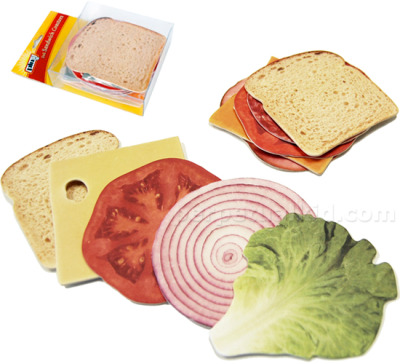 laughingsquid:  Beverage Coasters That Look Like A Deli Sandwich