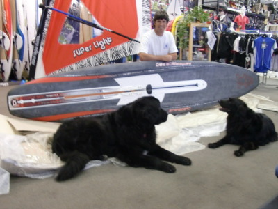 This is Gunnar and Milo with Nick and his new Starboard Phantom 380.