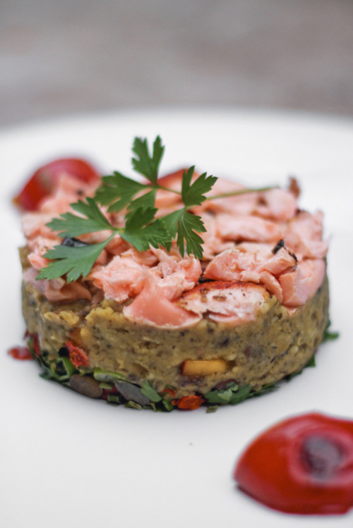 Smoked Salmon & Lentil Terrine