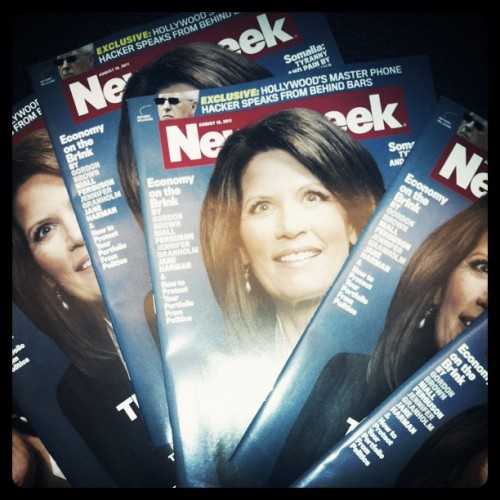 Whole lotta Bachmann. (Taken with Instagram at Newsweek / The Daily Beast)