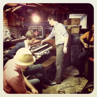 Recording a live Mutemath performance for RELEVANT.tv in Paul's basement in New Orleans