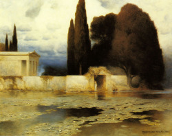 Ferdinand Keller (1842 - 1922) A Classical Landscape Oil on canvas 81 x 101