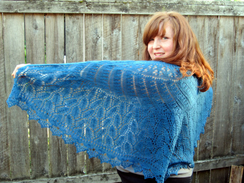 My shawl that I dropped off today to be judged in our Lane County Fair.