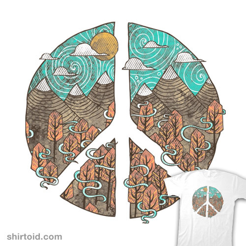 shirtoid:  Peaceful Landscape available at Threadless