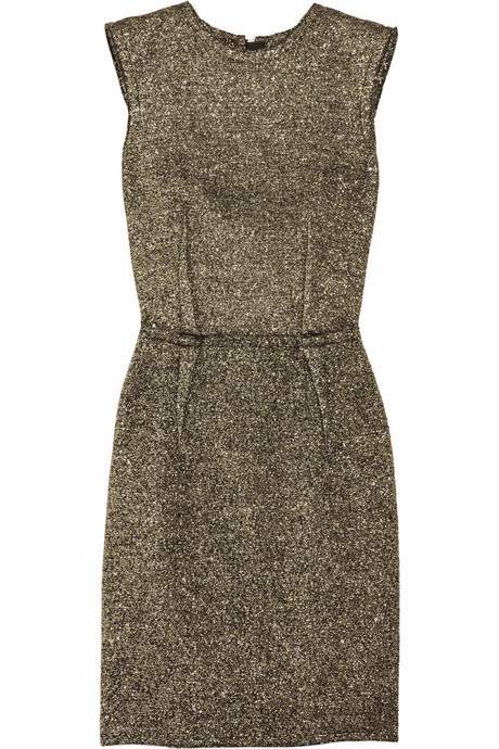 imandreamsfashion:  Lanvin Metallic Bouclé Shift Dress