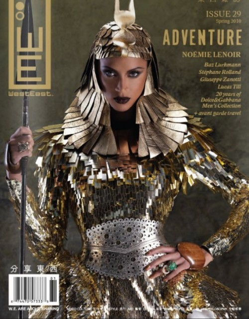 Inspiration - Egyptian Styling Noemie Lenoir, cover of WestEast Magazine, photographed by Carols Lumiere