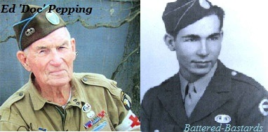 "battered-bastards:  Ed ""Doc"" Pepping member of Easy Company, 101st Airborne Division during the Normandy landings."