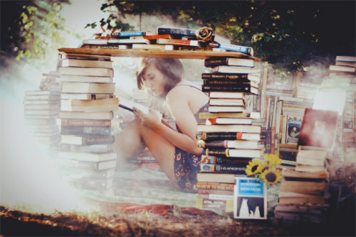 I'd rather…. build a fort out of books and hide away in there reading the best passages aloud. -V (by haytraveler)