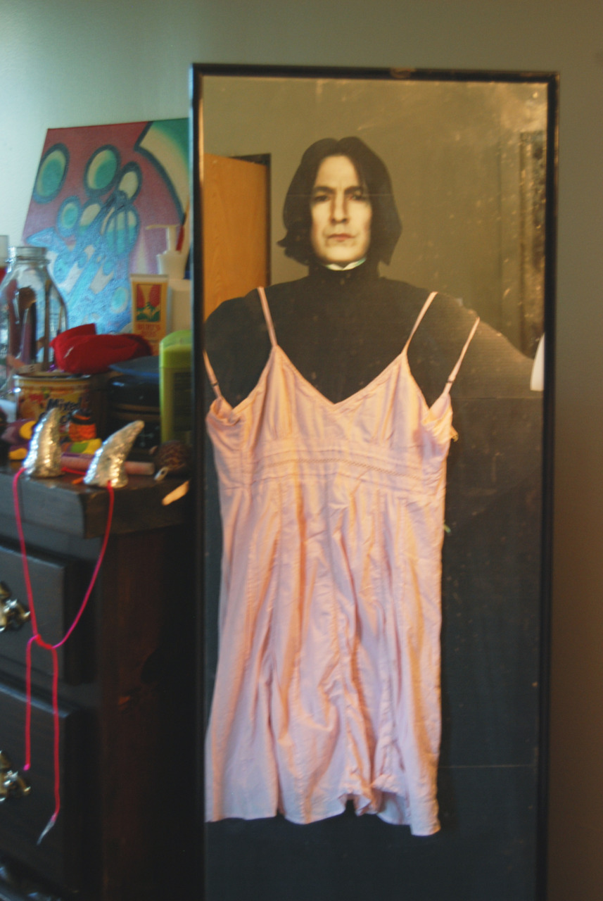 Snape looks in the mirror and realizes he is going to be the prettiest girl at the Yule Ball.