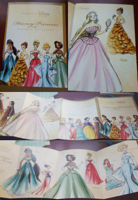 taoayumu:  Disney Princess Designer Collection Pamphlet Photos by Disneysexual on Flickr. Via Flickr: Photos by talesoftobv on DisneyPinForum.com (link) Posted to Disney Princess Designer Collection