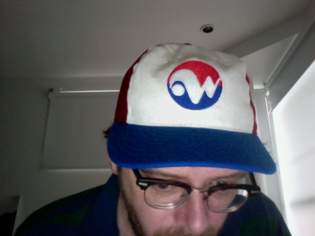 My new Winnipeg Whips hat. I love Ebbets Field Flannels hats, they are awesome. What could be better than a 1970s minor league Expos affiliate hat?