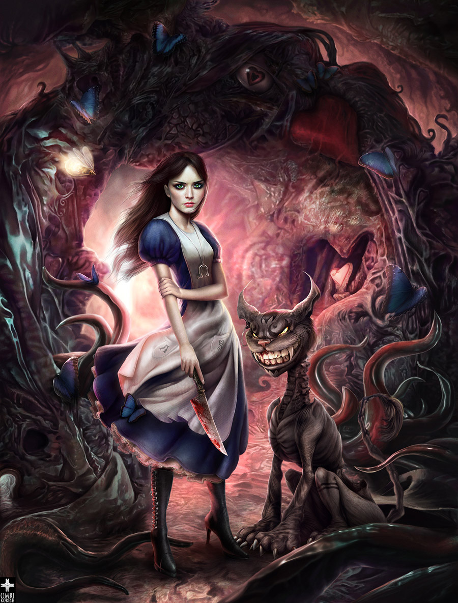 testicularfortitude:  gamefreaksnz:  Dark Wonderland by *0mri on deviantART  AAAAHHHHHHHHHHH