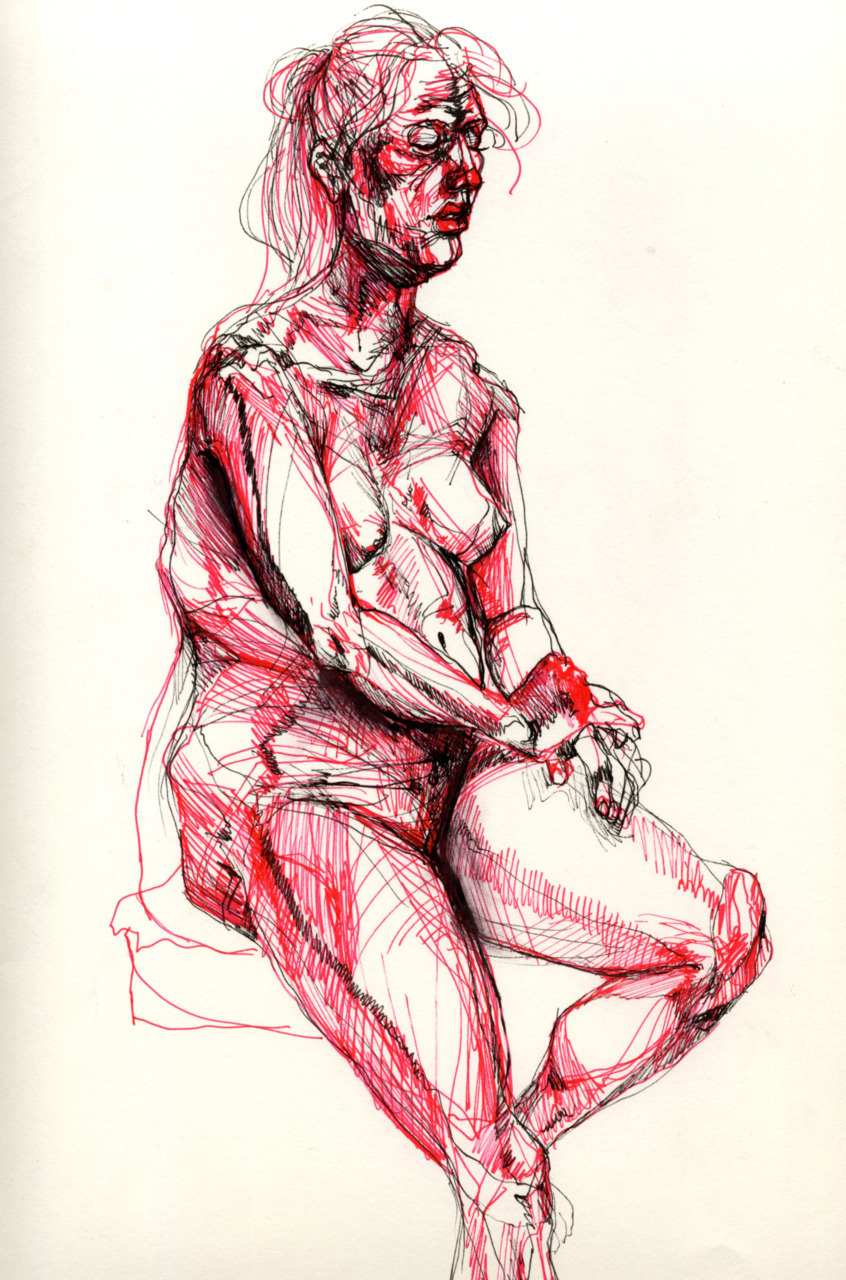 amandamn:  went to my first life drawing class. the artists there were incredibly intimidating