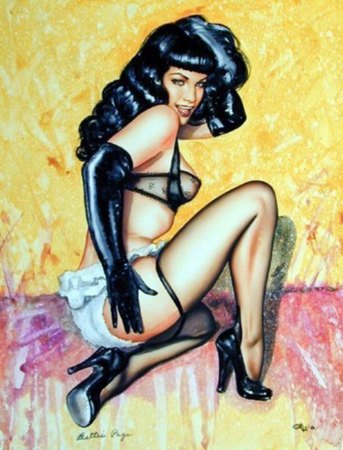 "thequeenofpinup:  Art by Olivia de Berardinis  ""Her attitude, her eyes, that's the most important, the steam that rises from them. That's the most important thing to me. She has magic. Some people have it."" -Olivia"