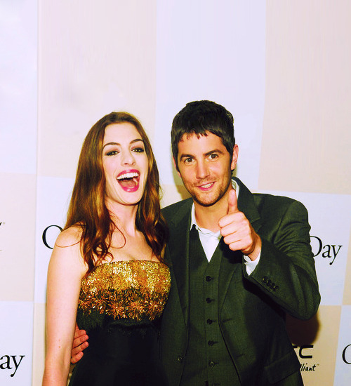hellyesjimsturgess:  Anne Hathaway and Jim Sturgess at One Day, New York Premiere - August 8