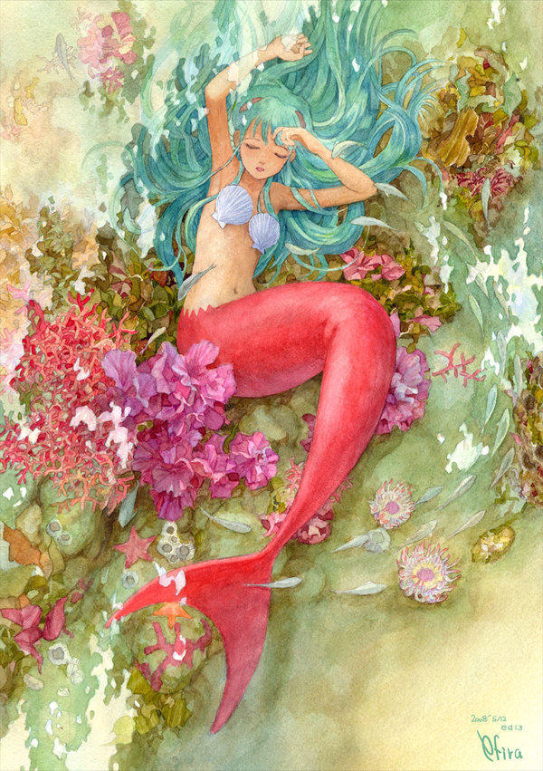 flippinyourfins:  Mermaid Taking a Nap by efira-japan