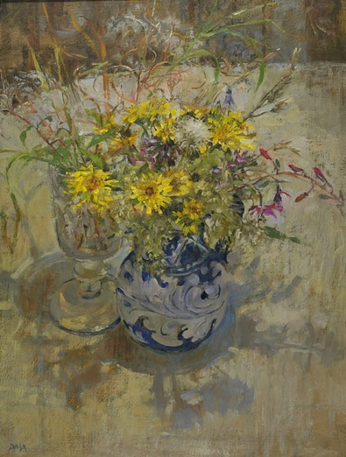 Diana Armfield Orvieto Jug with Wild Flowers and a Goblet 2011