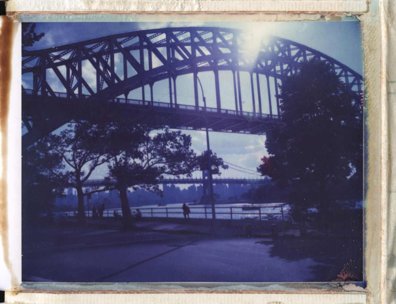 shady sunday in the park.. mamiya + polaroid <3