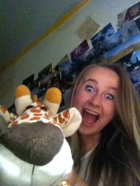 Giraffes can be extremely entertainingg…say herro to captain bed buddy <3