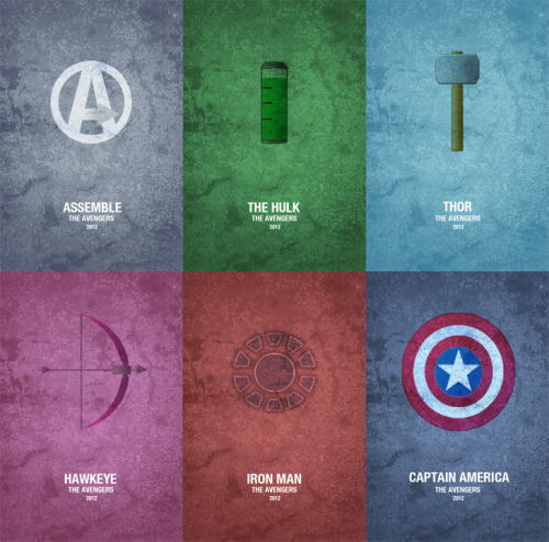 svalts:  The Avengers Film Posters - by Brenton Powell (Via: herochan)
