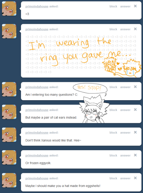 asktsuna:  The Ninth liked me enough to throw a ring at me, but it was Primo that liked me enough to let me keep it…