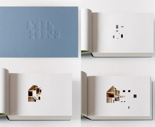 Fascinating Concept: Carving your home onto the pages of a book.
