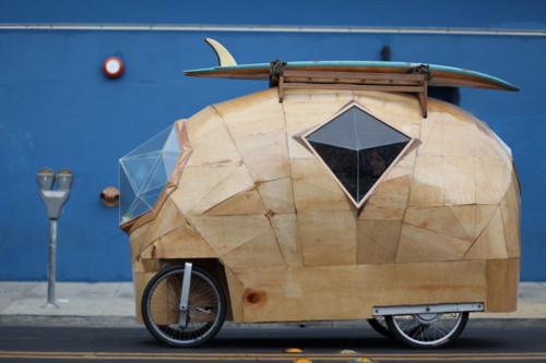 Faceted Wooden Cars by Jay Nelson.