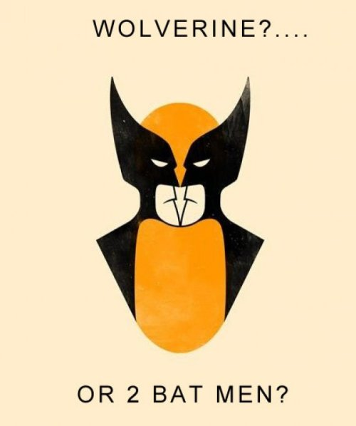 thelocalempire:  Wolverine? Or two Batmans?