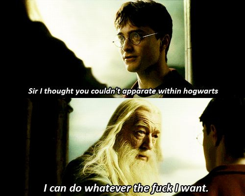 Dumbledore = like a boss.