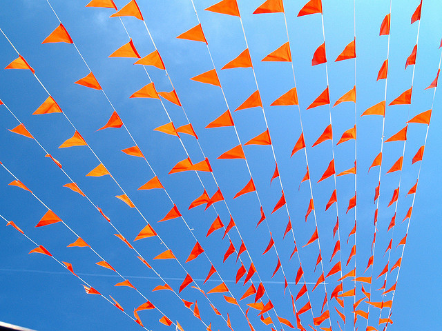 Bunting by zoetnet on Flickr.