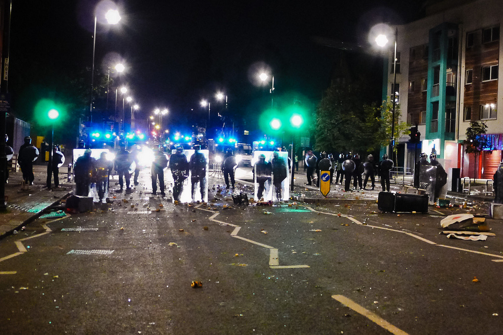 Tottenham riots. Do some learnin' on the subject here.  Photo via Nicobobinus on Flickr.
