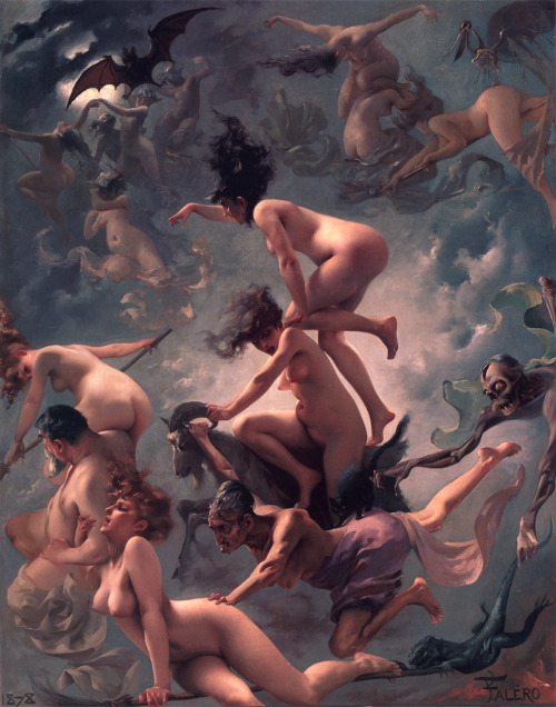 Luis Ricardo Falero, Departure of the Witches, Faust's Vision
