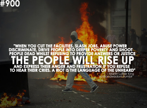 asdarkthingsareloved:  dropsofmystory:  I predict riots  I agree with King's statement. I wish I could've agreed with his lifestyle more.