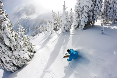 "Backcountry Skiing Crystal Mountain, Washington ""The lighting and light snow were unreal for so early in the year,"" says skier Tyler Ceccanti of this early December backcountry skiing shoot on Washington's Crystal Mountain with photographer Ian Coble. Though Ceccanti has spent the last four years sampling the world's best terrain as a pro, the 22-year-old says there's no place like home: ""I grew up exploring this mountain every weekend and I love being here,"" says Ceccanti who still lives in nearby Lake Tapps. ""It also has some of the best skiing in the Northwest and a beautiful view."" See more in our Extreme Photo of the Week gallery» Photograph by Ian Coble"
