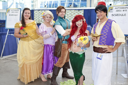 Disney Princes and Princesses at San Diego Comic-Con 2011. Photo by Jason.E.N. (Source)