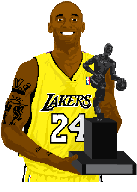 "gotemcoach:  ""24-Bit"" Kobe Bryant, in all his 8-bit glory, by designer gráfico, João Fernandes. Amazing work, even cooler name.  Check out more of his work at his website.  More from the BTL design project."