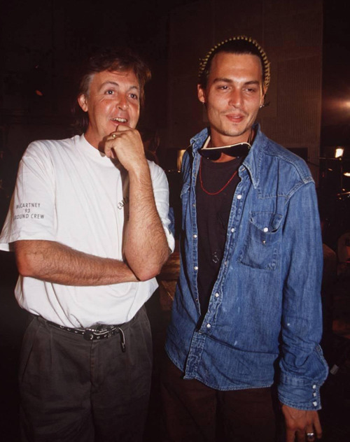 Paul McCartney and Johnny Depp